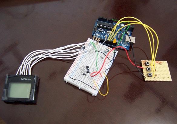 Schneller nokia lcd mit arduino ansteuern